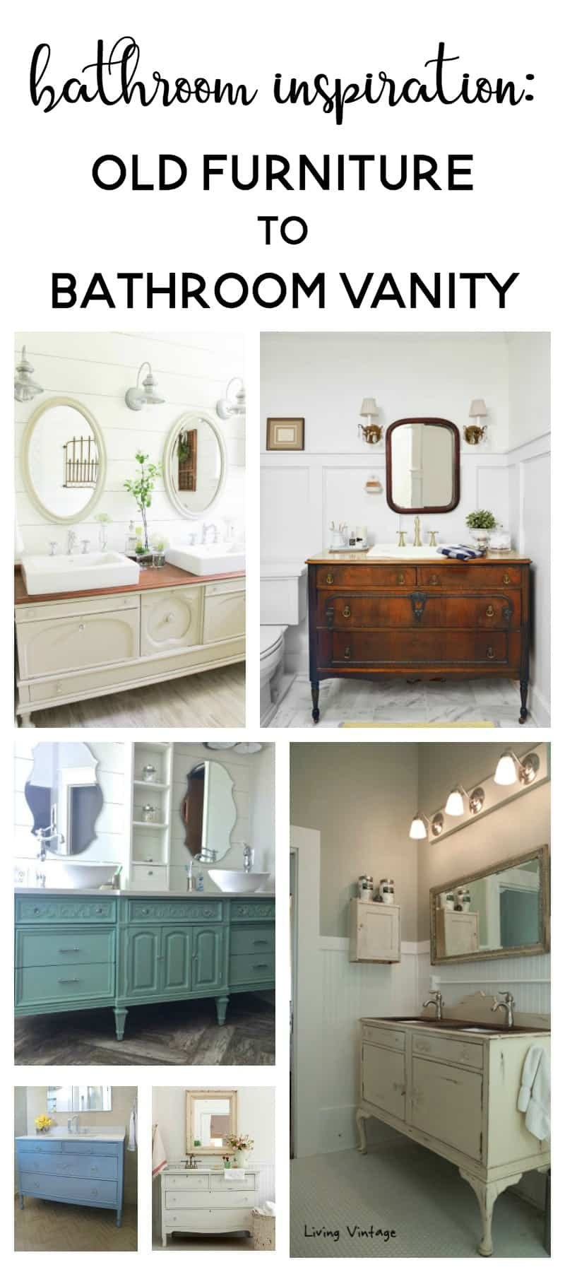 Bathroom Inspiration Using A Dresser As A Vanity Making