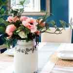 Vintage Farmhouse Milk Can Flower Arrangement