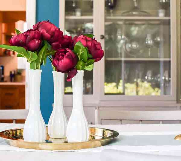 Easiest Thrift Store Vase Fall Floral Centerpiece