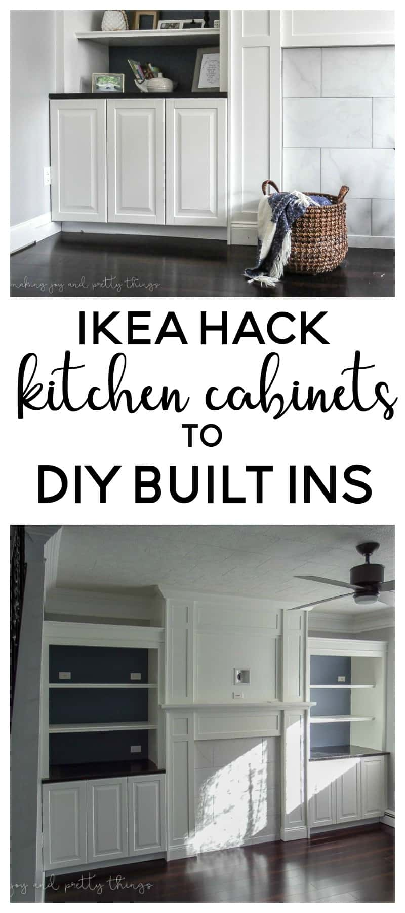 ikea hack kitchen cabinets turned built ins. Black Bedroom Furniture Sets. Home Design Ideas