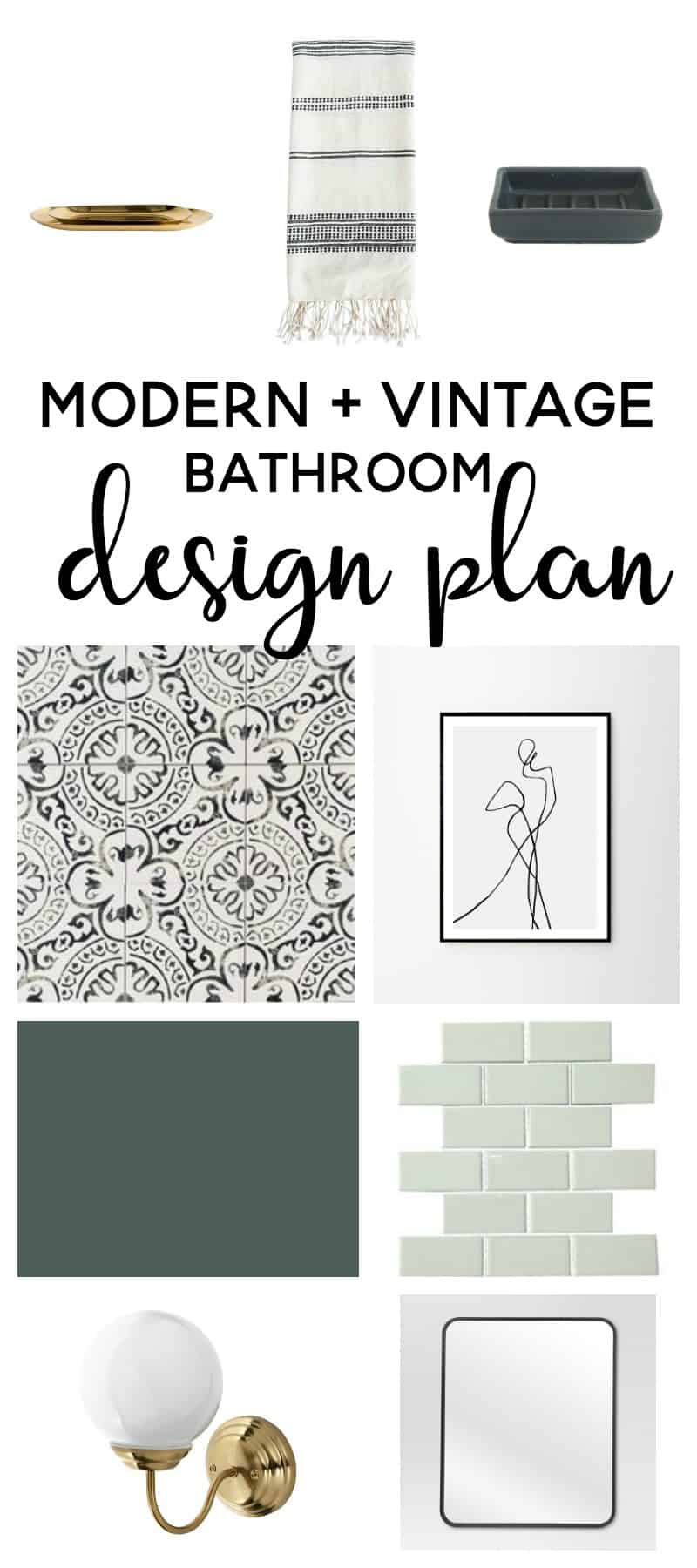 Amazing Modern Vintage Master Bathroom Design Plan | Bathroom Ideas | Bathroom  Remodel | Bathroom Decor |