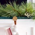 DIY Modern Christmas Stocking Holder