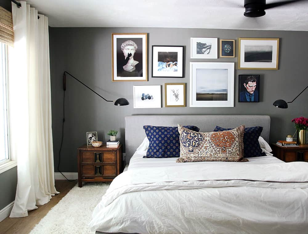 Canu0027t Get Enough Of This Gallery Wall In Chris Loves Juliau0027s Master Bedroom!  Hoping To Do Something Similar In Ours. I Love Their Dark Wall, Too But  Going ...