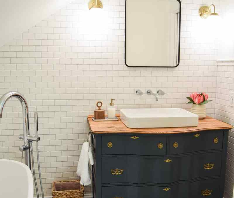 Our Modern and Vintage Master Bathroom Reveal