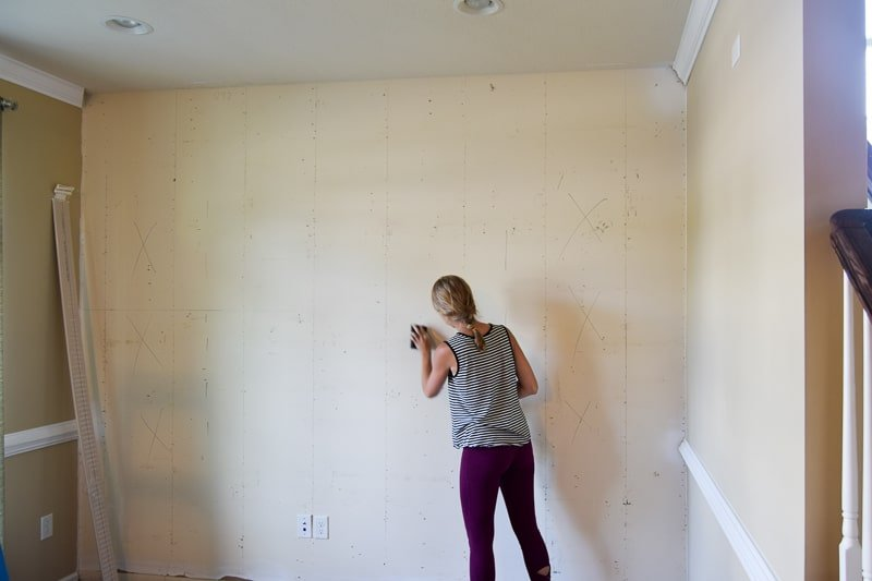 One Room Challenge Week 2 : : Goodbye Wood Wall