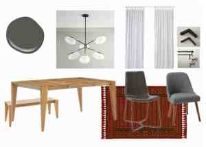 modern dining room design plan