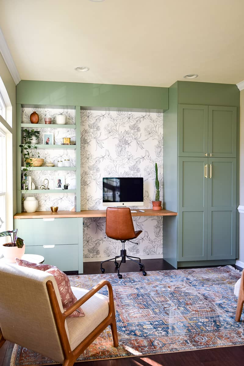 Sharing The Big Reveal Of Our Formal Living Room Turned Modern Office  Space. We Used