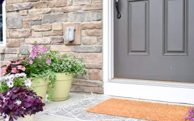 Our Layered Doormats for Summer {Front Porch for Summer!}