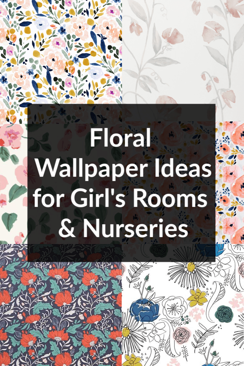 Sharing tons of floral wallpaper ideas for girl's rooms and nurseries! Looking to add a wallpaper accent wall or wallpaper toddler girl room?  I found wallpaper ideas for nurseries and wallpaper ideas for toddler girl room.  Add floral wallpaper to a nursery or flower wallpaper girl's room.  Just click the photo to shop!  #wallpaper #floralwallpaper #toddlergirlsroom #girlroom #nursery