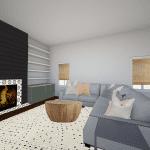 Living Room Design Plan: Mood Board & Floor Plan