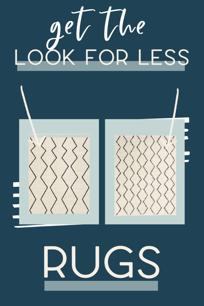 It's the third edition of get the look for less and today I'm sharing look for less rugs! You can have a beautiful stylish home without breaking the bank! Get the same luxurious and expensive looking rugs at a budget friendly price. These rugs would be perfect as living room rugs or bedroom rugs. You don't have to break the bank to have a beautiful home.