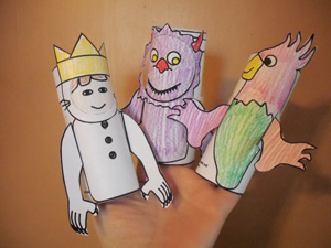 Image result for where wild things are paper puppet