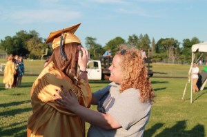 This was a very special moment between me and one of my kids at graduation.