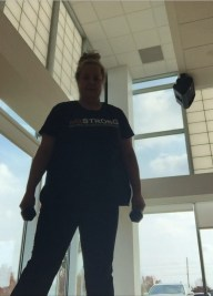 This was taken during the intense strength and balance class that I attend every week.