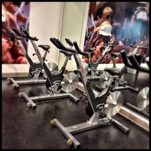 "Spin class. We work our arms with weights while we cycle. ""They"" said MS patients couldn't do it. ""They"" were wrong."