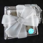 Tiffany and Co® crystal trinket box with removable lid