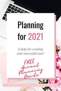 Pinterest image - Planning for 2021