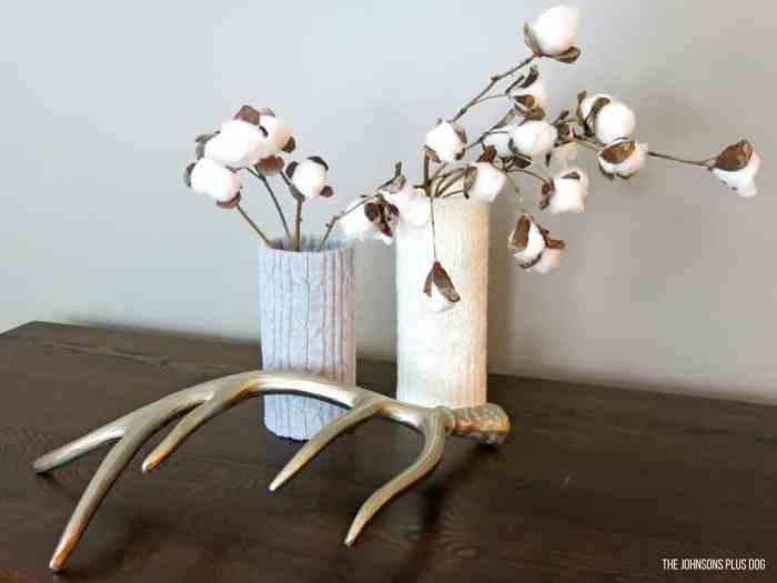 diy farmhouse cotton stems by making manzanita