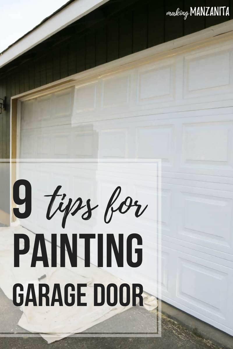 Painting Garage Door - Easy Way to Instantly Improve Curb ... on Garage Door Paint Ideas  id=13880
