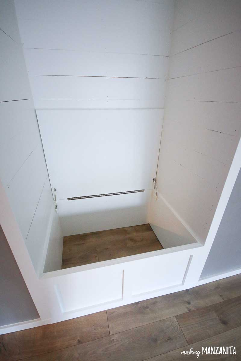 Farmhouse Style Diy Reading Nook With Storage Making