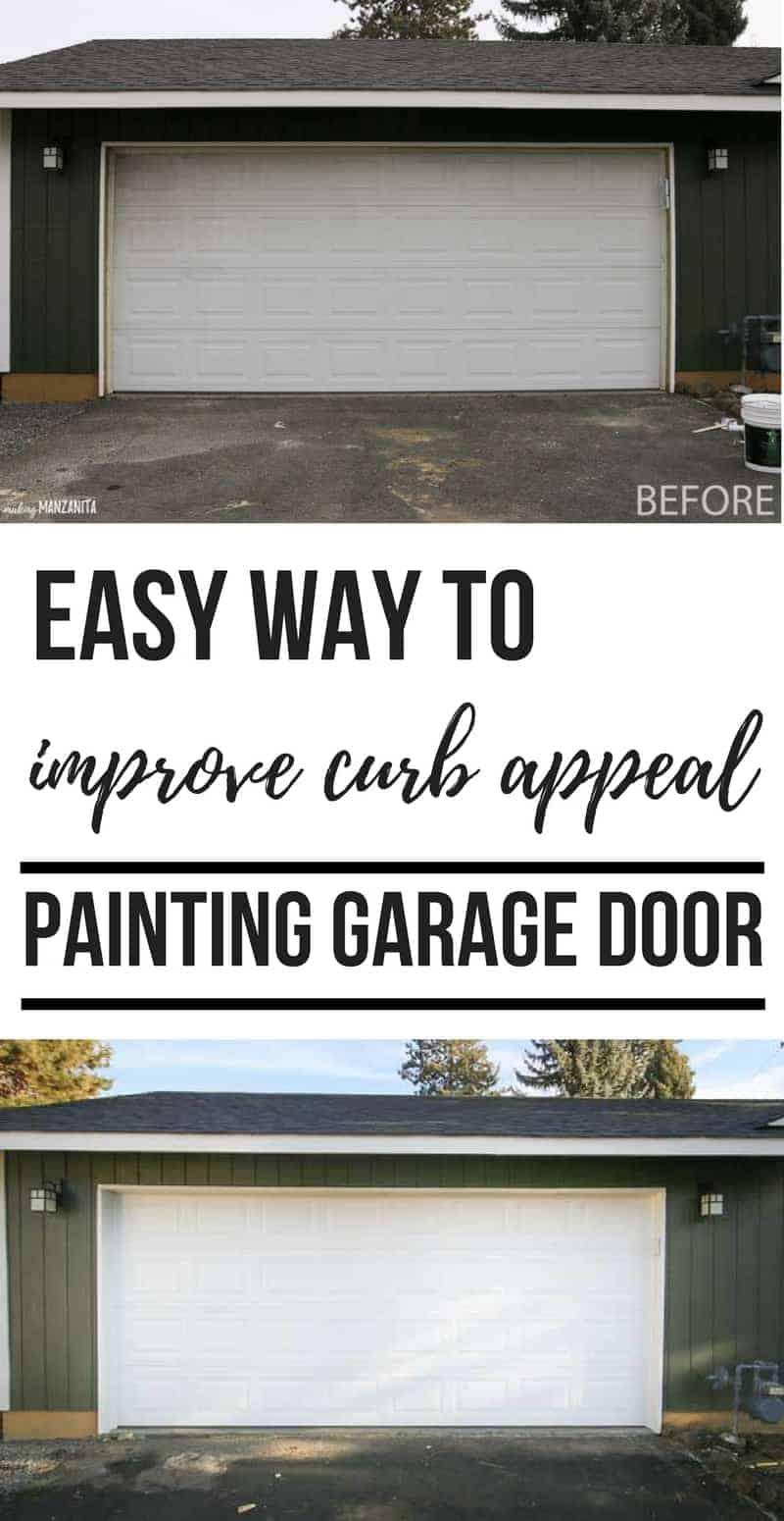 Painting Garage Door - Easy Way to Instantly Improve Curb ... on Garage Door Color Ideas  id=94880