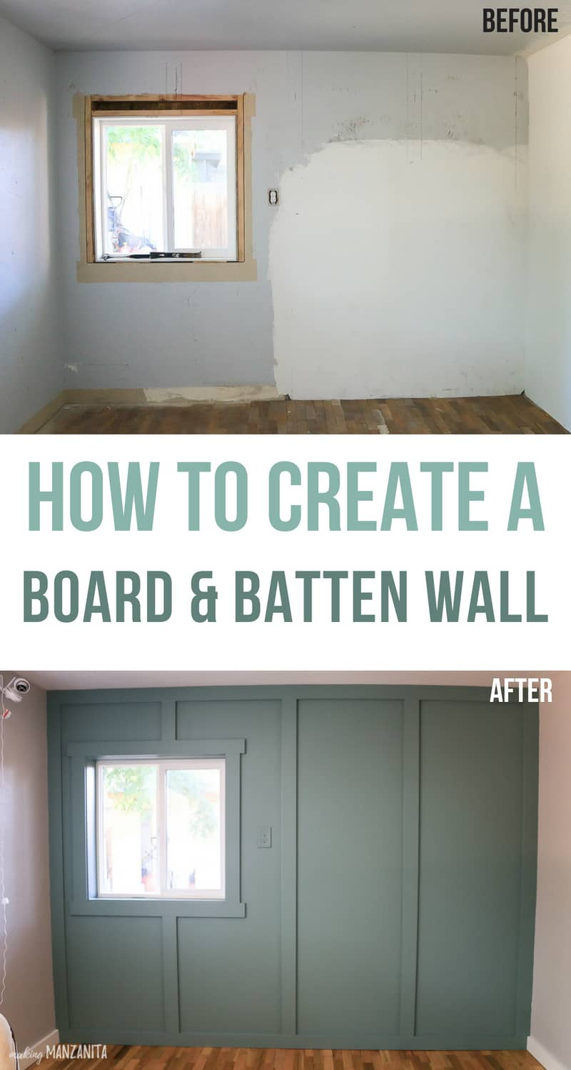 Board And Batten Wall Tutorial On Textured Walls