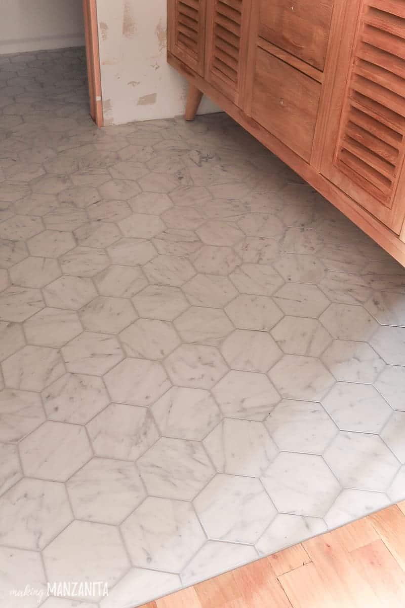 9 Modern Farmhouse Tile Ideas (+ How To Tile A Floor ... on Farmhouse Bathroom Floor Tile  id=55816
