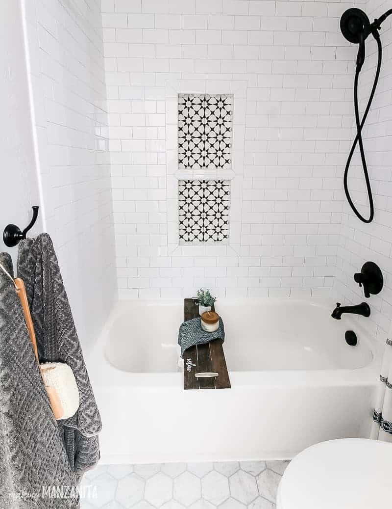 Modern Farmhouse Bathroom Reveal With Boho Vibes on Farmhouse Bathroom Tile  id=87068