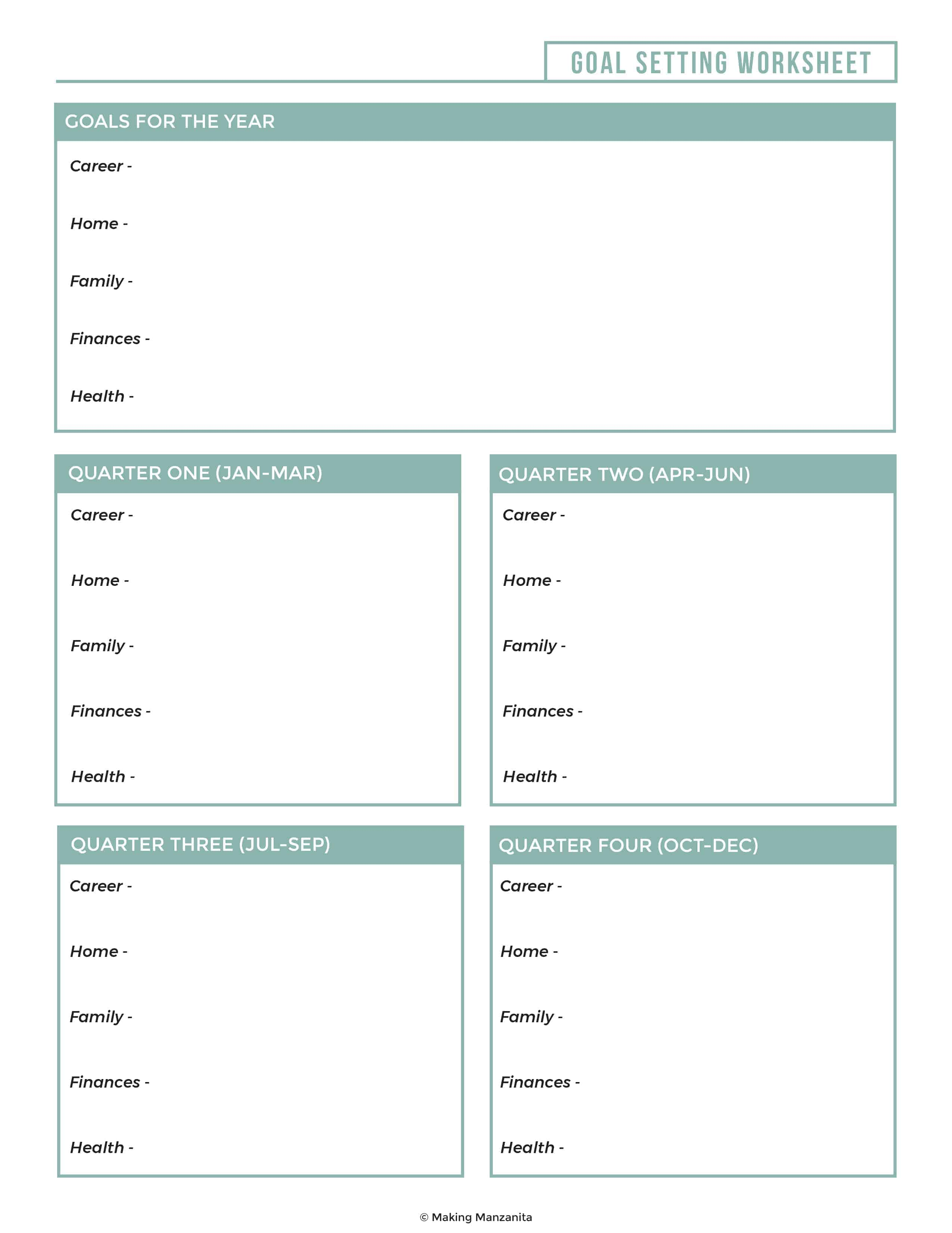 Grab This Goal Setting Worksheet To Crush Your Goals This