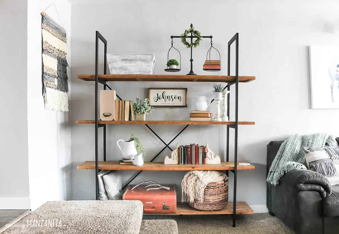 How To Decorate Shelves - Making Manzanita on Shelf Sconces For Living Rooms Contemporary id=14078