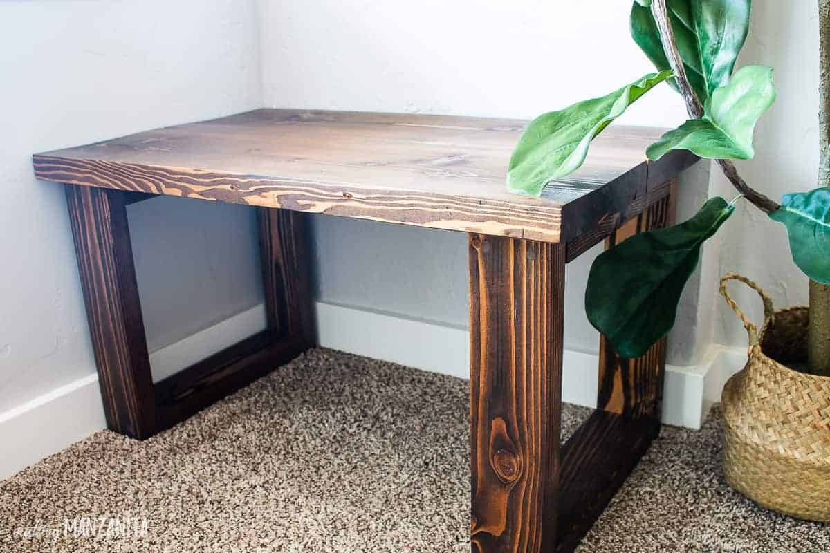 Easy Diy Bench For Small Entryway With Free Plans Making Manzanita