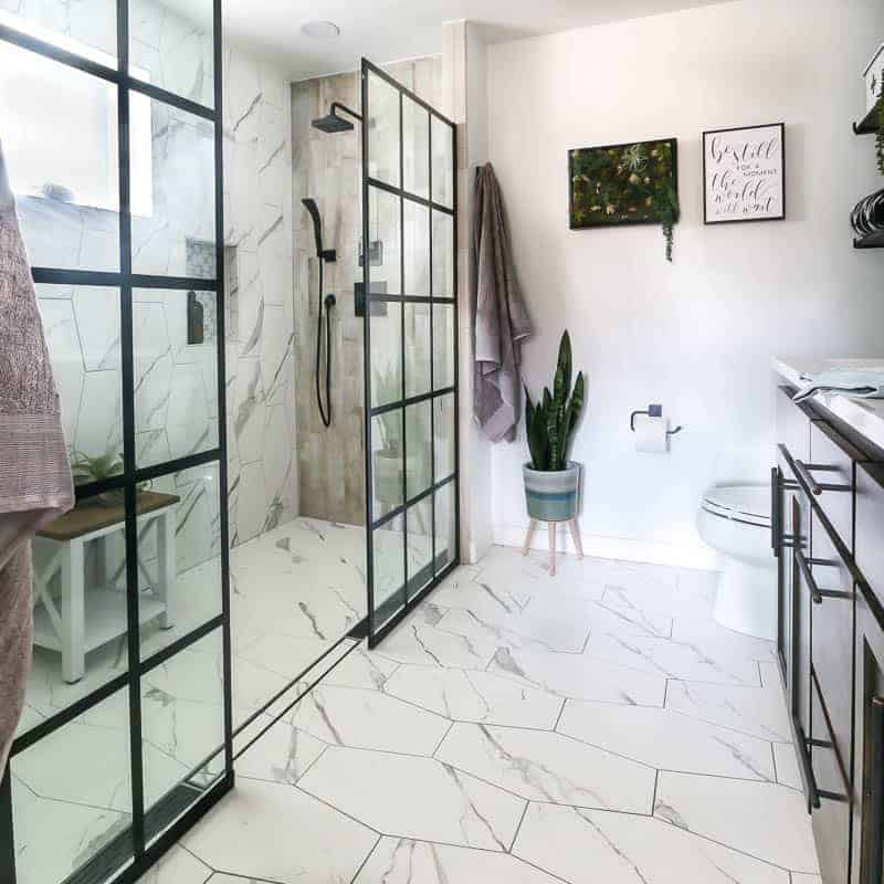 our modern bathroom renovation cost