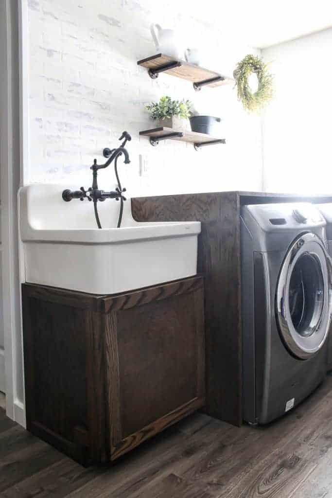 diy farmhouse sink cabinet for laundry
