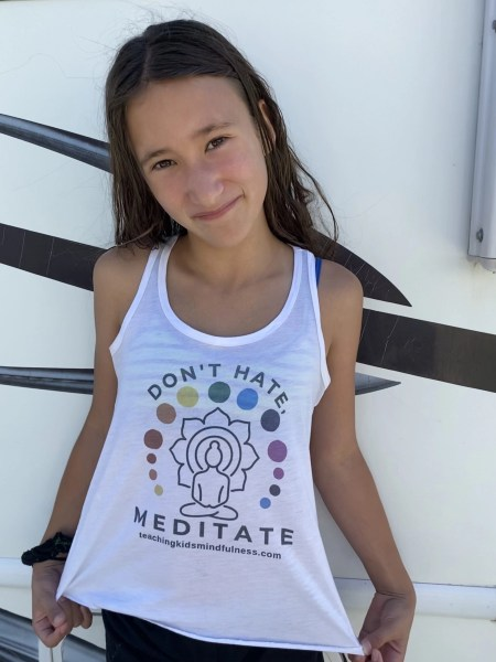 Kids Dont Hate Meditate Tank 2