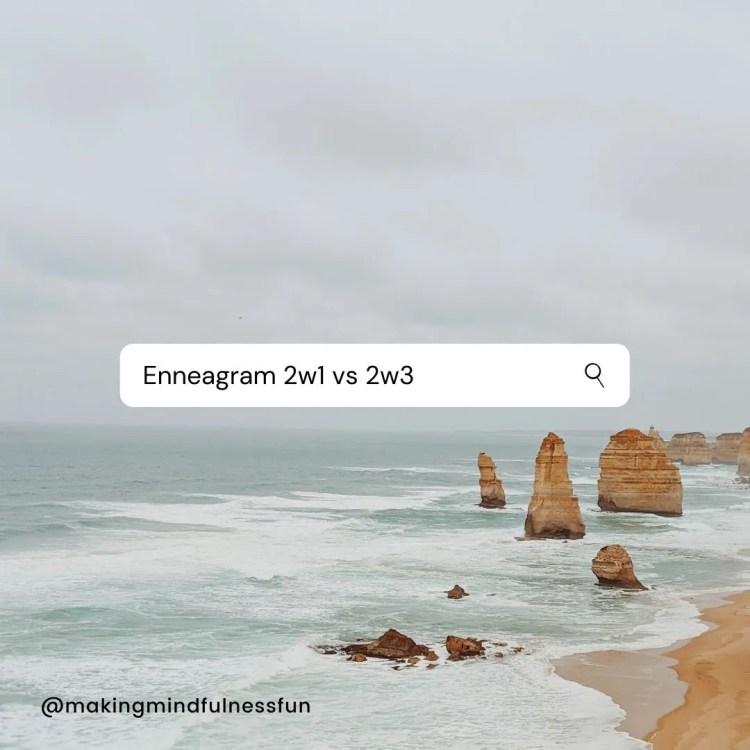 Enneagram 2w1 vs 2w3