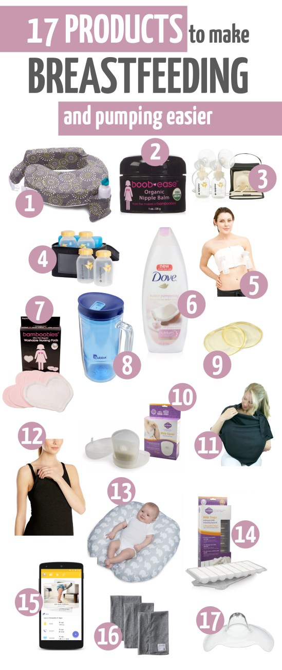 products to help make breastfeeding easier