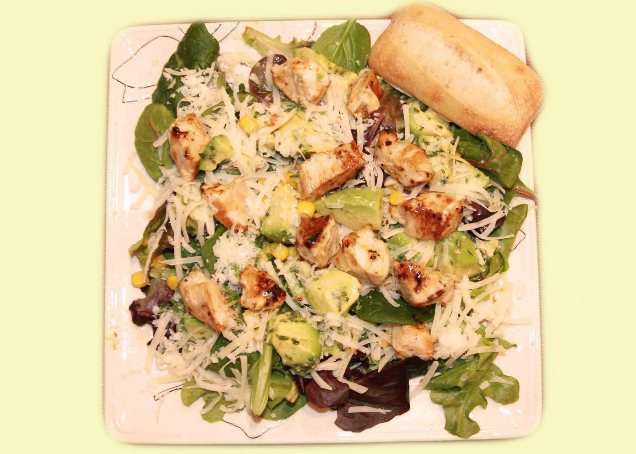green salad chicken