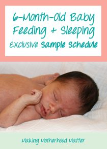 Sample schedule for 6-month-old baby