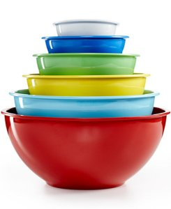 Martha Stewart Collection Set of 6 Melamine Mixing Bowls from Macy's