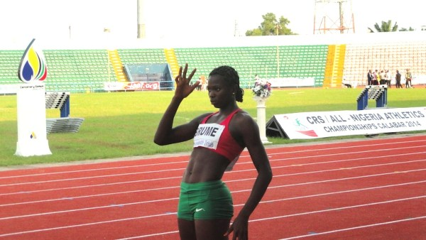 Ese Brume hopes to defend her Long Jump crown and get to the podium in the 100m.