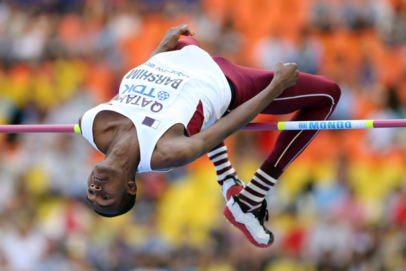 Barshim competing in the High Jump at the 2013 IAAF World Athletics Champs in Moscow, Russia  (Photo credit: Ian Walton/Getty Images Europe)