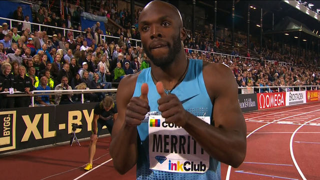 Merritt secured his second consecutive Diamond League trophy in 2014. (Photo Credit:www.bbc.com)