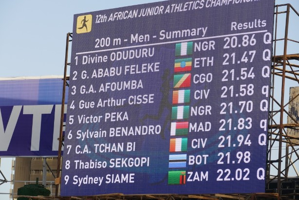Divine Oduduru ruled the 200m the same way he did the 100m.