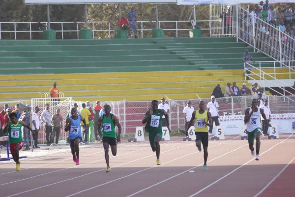 Victor Peka (3rd Right) was impressive in the heats but couldn't replicate same in the semis.
