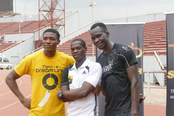 The trio were a delight to watch in the men's 100m and 200m races.
