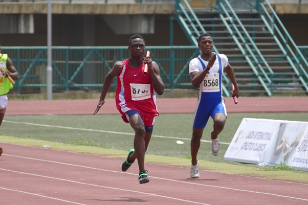 Offiong Ekemeni ran the anchor leg for Team MoC's 4x100m Boys' relay.