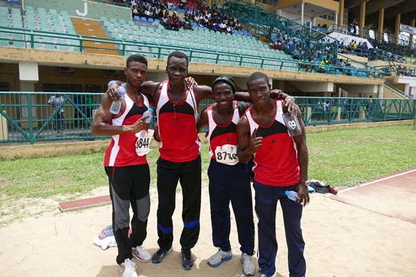 Team MoC's 4x100m relay 'A' Team placed 2nd in the heats.