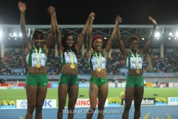 Can Team Nigeria retain the women's 4x200m World Relays title?
