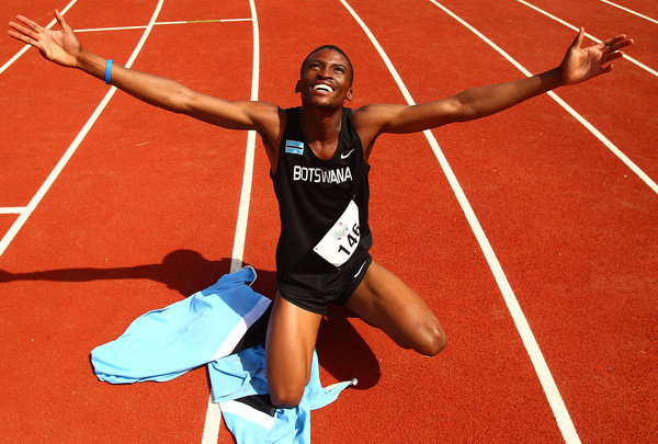 Botswana's Karabo Sibanda won the Boys' 400m race. (Photo Credit: Scott Barbour/Getty Images AsiaPac)