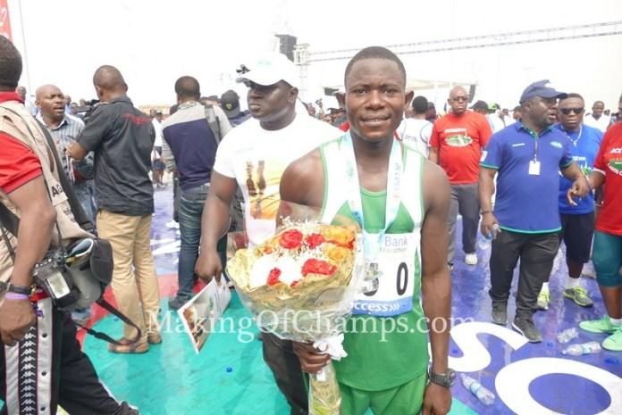 Philibus Sharubutu clocked a PB to emerged the first Nigerian to cross the finishing line.